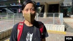 社民連主席陳寶瑩形容選委會選舉是民主的大倒退,也是對香港市民的侮辱 (美國之音湯惠芸)