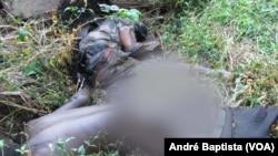 Cadáveres fotografados por jornalistas em Sofala