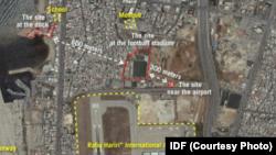 نقشهای که وزارت دفاع اسرائیل منتشر کرده است.