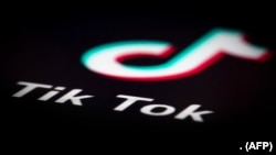 Logo de l'application TikTok. (Photo Joel Saget/AFP)