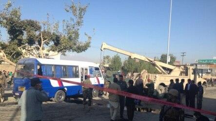 محل انفجار امروز در  آقا علی شمس چهلستون کابل