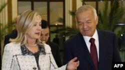 Islom Karimov va Xillari Klinton, Oqsaroy, 22-oktabr 2011
