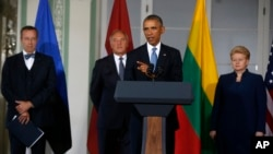 Tổng thống Obama và các nhà lãnh đạo của ba nước vùng Baltic – Estonia, Latvia và Lithuania.