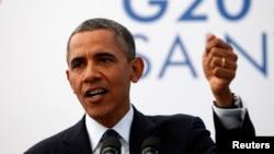 Tổng thống Mỹ Barack Obama phát biểu trong một cuộc họp báo tại Hội nghị Thượng đỉnh G20 tại St Petersburg, Nga, 6/9/2013