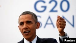 U.S. President Barack Obama speaks during a news conference at the G20 Summit. (June 2013.)