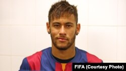 La star du football Neymar