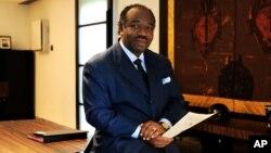 FILE - Gabon President Ali Ben Bongo Ondimba