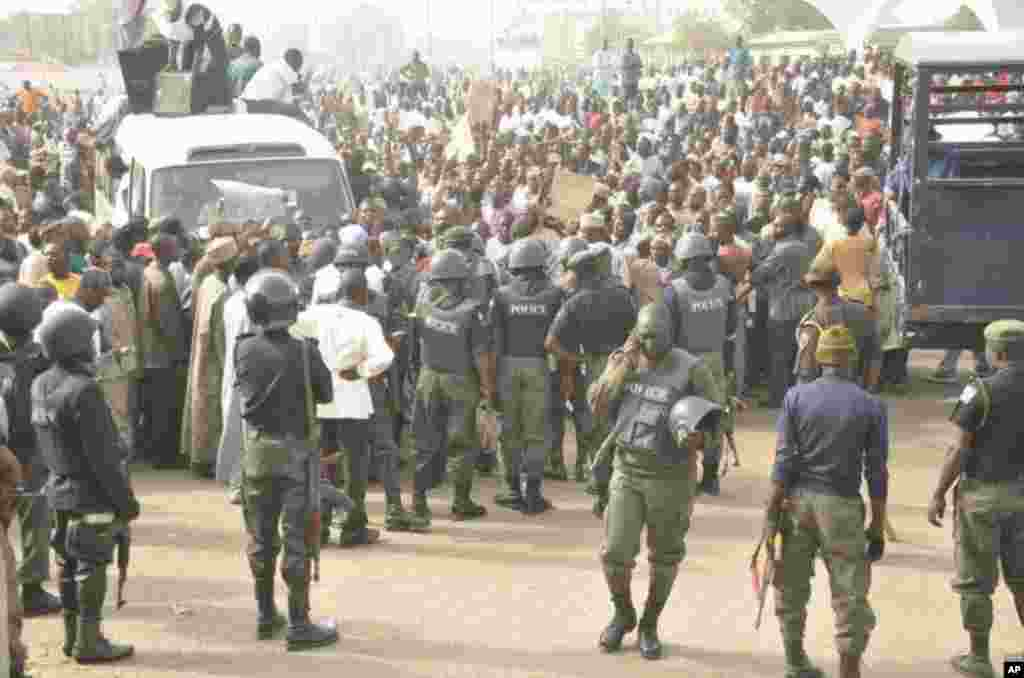 Protest in Kano fuel subsidy.
