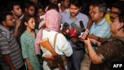 Котешвар Рао дает интервью журналистам. Октябрь 2009 год