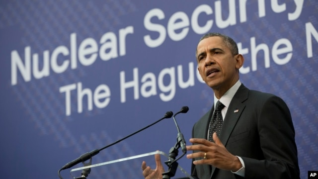 President Barack Obama speaks during their joint news conference with Dutch Prime Minister Mark Rutte at the conclusion of the Nuclear Security Summit in The Hague, Netherlands, Mar. 25, 2014.