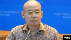 Juru bicara Kementerian Luar Negeri Indonesia, Arrmanatha Nasir. (Foto: Fathiyah Wardah/VOA)