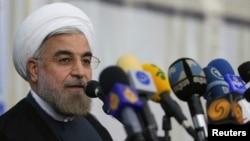 روحانی در یک کنفرانس خبری در تهران، جنگ در شرق میانه را به سود اسرائیل خواند.
