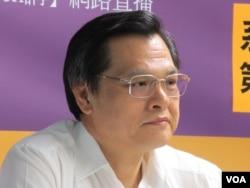前陆委会主委 陈明通(VOA记者张永泰拍摄)