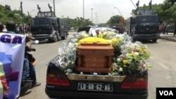 O funeral de Hilbert Ganga