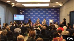 紐約亞洲協會周四舉行香港問題討論會,兩位香港立法會議員應邀出席和討論