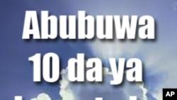 Abubuwa 10 da ya kamata ka sani a yau