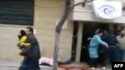 Humus'ta çatışmalar sırasında bir kliniğe getirilen yaralılar