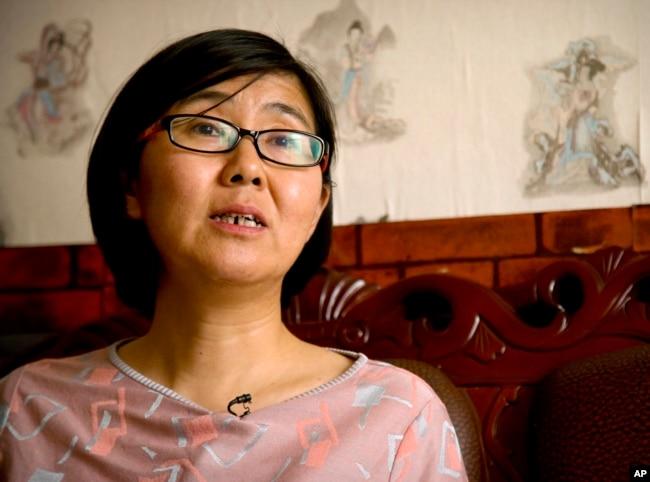 2015年4月18日中國律師王宇在北京接受采訪。
