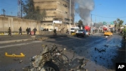 3일 이라크 키르쿠크 폭탄 공격 현장