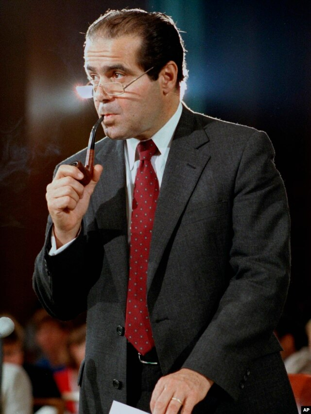 FILE - Supreme Court Justice nominee Anthony Scalia during his confirmation hearings in Washington, Aug. 6, 1986.