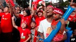 星期一,選舉官員宣佈,全國民主聯盟在仰光贏得了12個下院席位。