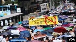 今夏有超過9萬人在香港參加7-29反洗腦國民教育大遊行