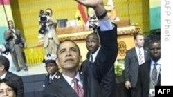 باراک اوباما از شهروندان آفریقا خواست با ساختن دمکراسی، ایجاد فرصت های اقتصادی و نبرد با فساد، سرنوشت خود را به دست گیرند