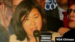 在紐約市民主黨國會初選獲勝的現孟昭文(Grace Meng)