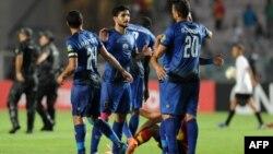 Les joueurs d'Al Ahly lors de leur victoire contre Tunis, le 17 août 2018.