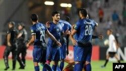 Les joueurs d'Al Ahly lors de leur victoire contre l'Espérance de Tunis, Egypte, le 17 août 2018.