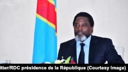 Le président Joseph Kabila au Palais de la Nation, à Kinshasa, le 7 mars 2018. (Twitter/RDC présidence de la République)
