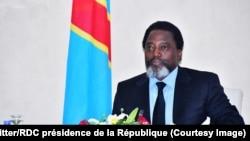Joseph Kabila lors d'une rencontre avec une délégation des opérateurs économiques du secteur minier, au Palais de la Nation, Kinshasa, 7 mars 2018. (Twitter/RDC présidence de la République)