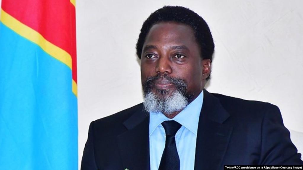 Le président Joseph Kabila lors d'une rencontre avec une délégation des opérateurs économiques du secteur minier, au Palais de la Nation, Kinshasa, 7 mars 2018. (Twitter/RDC présidence de la République)