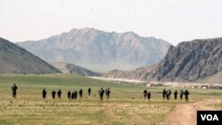 Ghorak district of Kandahar southern Afghanistan, Tuesday, March 13, 2007. NATO-led troops last week launched their largest offensive yet in southern Afghanistan, which is a stronghold for Taliban insurgents who have stepped up attacks over the past year