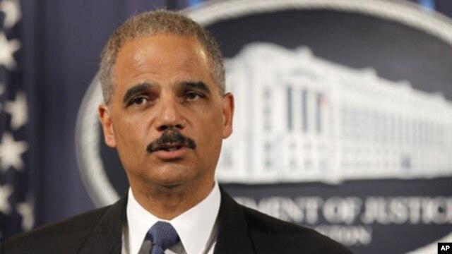 Bộ trưởng Tư pháp Eric Holder, 'Mối quan tâm chính của chúng tôi là để giữ an toàn cho người dân Mỹ..'