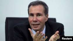 FILE - Argentine prosecutor Alberto Nisman, is interviewed at his office in Buenos Aires, May 29, 2013.