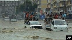 سیلاب در پاکستان (عکس از آرشیف)