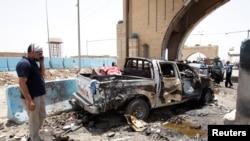 ერაყის დედაქალაქ ბაღდადის რაშიდიას უბანი, 13 ივლისი, 2016.