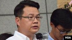 候任民主黨立法會議員尹兆堅 (美國之音 湯惠芸拍攝)