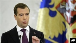 Russia's President Dmitry Medvedev at the Kremlin, 30 Nov. 20