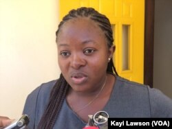 Adidjatou Pounpouni, à Lomé, au Togo, le 18 mars 2018. (VOA/Kayi Lawson)