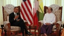 Tổng thống Obama gặp Tổng thống Miến Ðiện Thein Sein tại Yangon, ngày 19/11/2012.