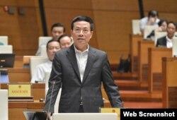 Bộ trưởng Bộ Thông tin và Truyền thông Việt Nam Nguyễn Mạnh Hùng. Photo VTC.