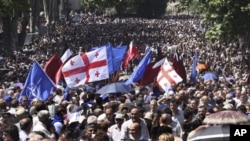 Митинг оппозиции в Тбилиси, Грузия
