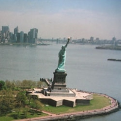 The Statue of Liberty in New York Harbor