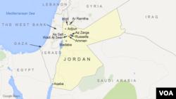 約旦地理位置圖