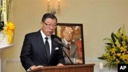 台湾驻美代表袁健生在丘宏达追思会中致悼词