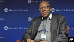 Zimbabwe Finance Minister Tendai Biti addressing forum The Atlantic Council, Washington, DC, April 2012.