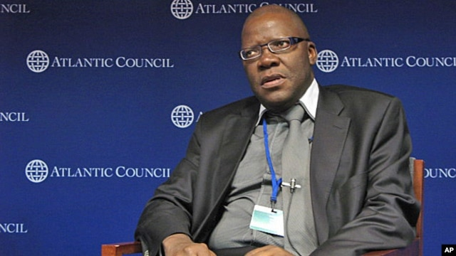 Zimbabwe Finance Minister Tendai Biti addressing forum The Atlantic Council, Washington, DC, April 2012.