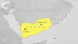 Map shows location of Hadramout, Yemen